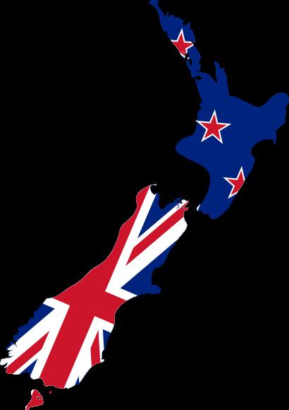 New Zealand Flag Map