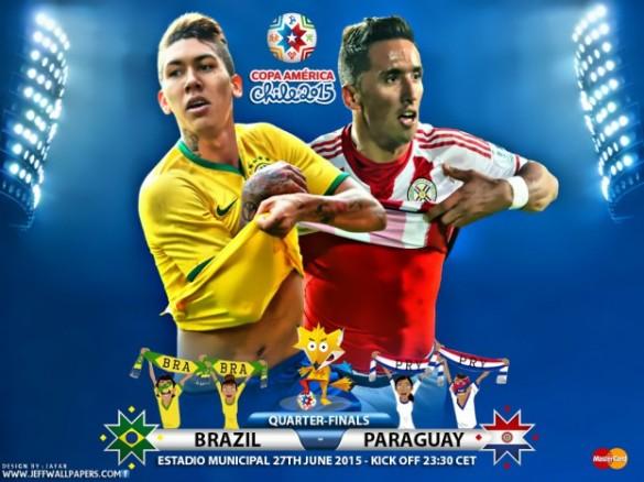 Resultado de imagem para Brasil x Paraguai 2015